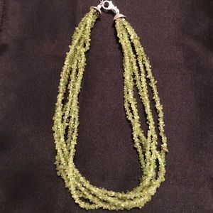Silpada .925 Sterling Silver Peridot Necklace